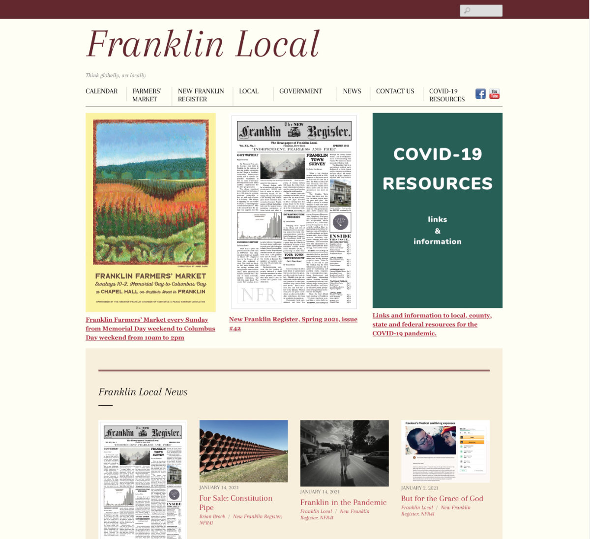 A local community website for residents of the Franklin/Treadwell NY area.  Visit website franklinlocal.org