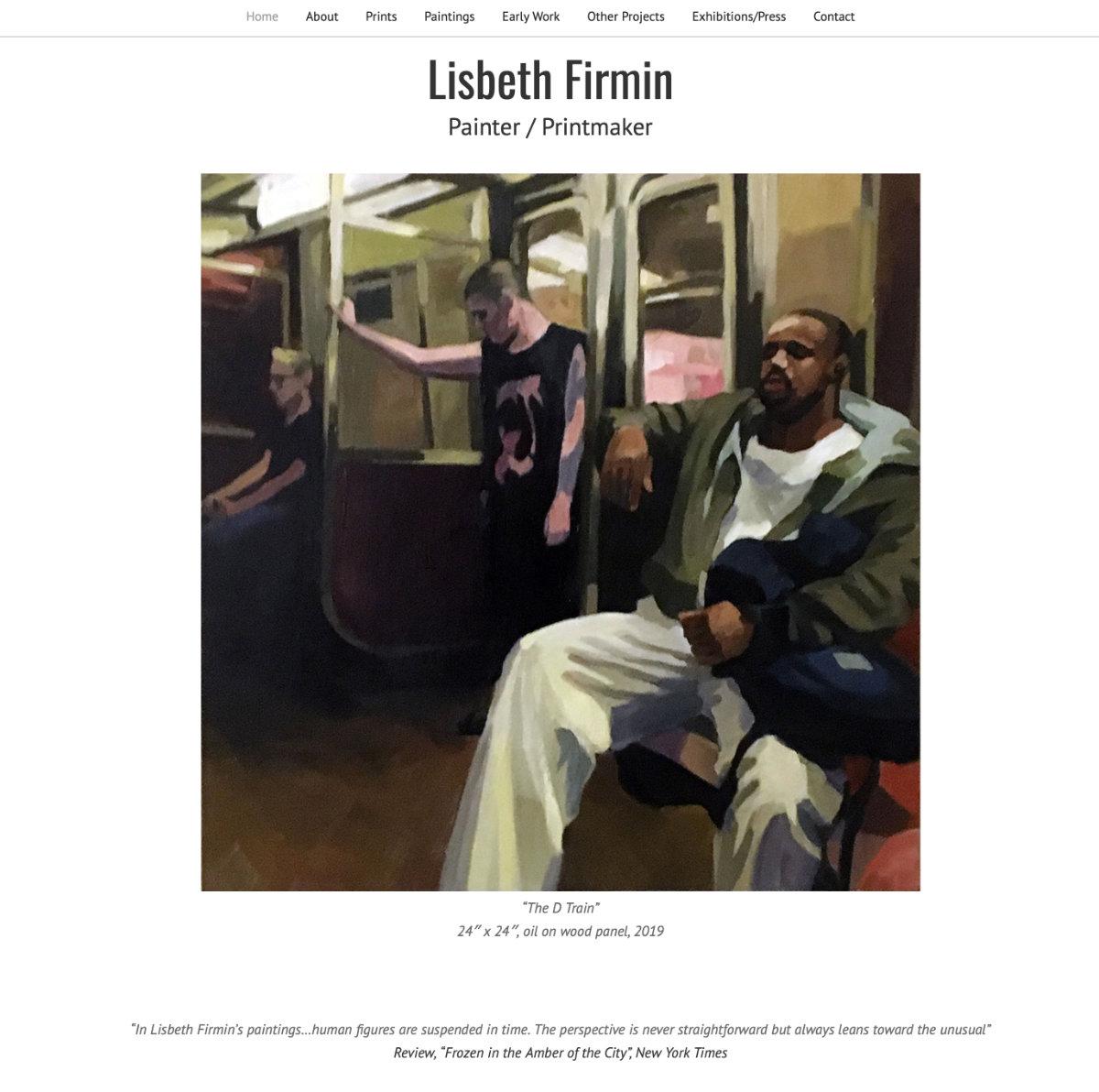 Artist website for Lisbeth Firmin.  Visit website lisbethfirmin.com
