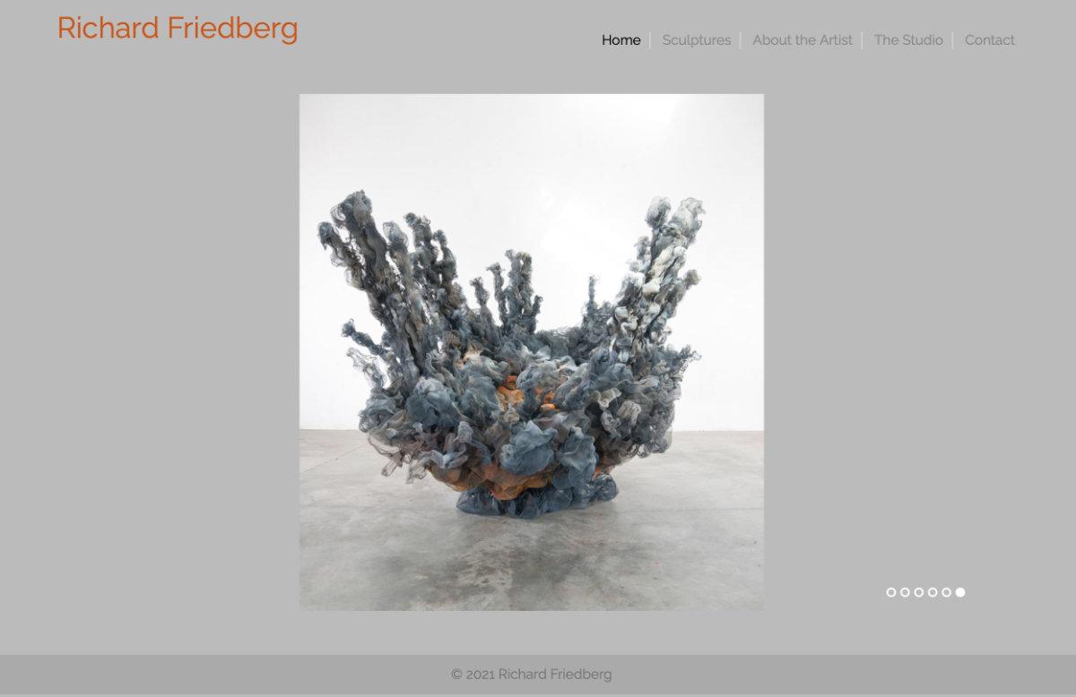 Artist website for the sculptor Richard Friedberg.  Visit website richardfriedberg.com